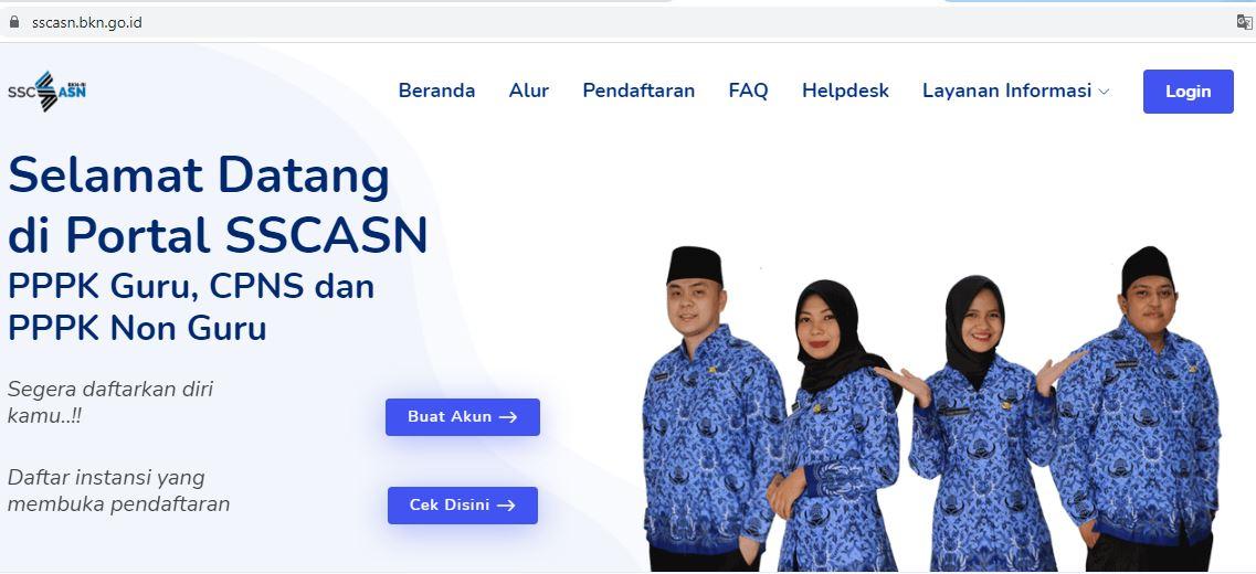 buka web sscasn.bkn.go.id